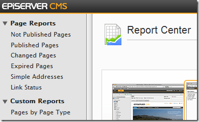 New report in Report Center