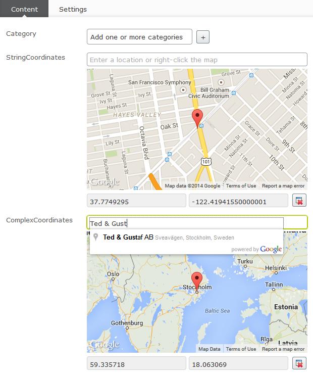 EPiServer Google Maps editor on NuGet