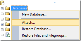 Attaching a database file