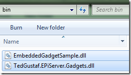 Adding gadget assembly to the website's bin folder