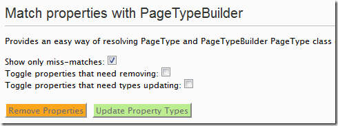 Page Type Builder UI screenshot
